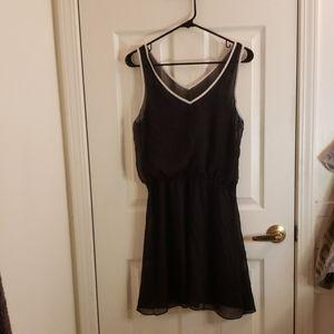 Express Lined V-Neck Dress Black Size Large